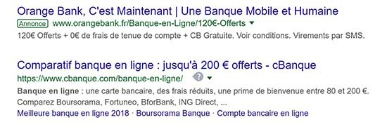 Annonce Adwords550